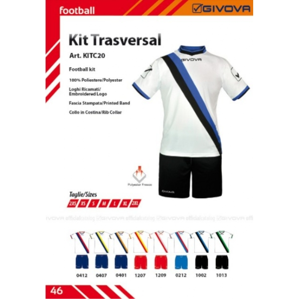 2f10ad956f2c Στολές ποδοσφαίρου GIVOVA - Interprom - Διαφημιστικά Δώρα