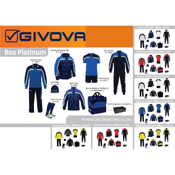 BOX GIVOVA PLATINUM FULL